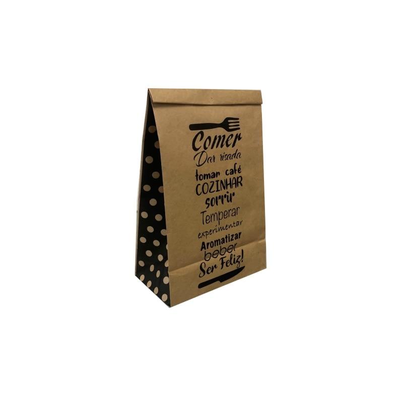 saco de delivery em papel kraft tamanho P